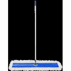 Grindų šluostas 110 cm su metaliniu rėmu ir kotu